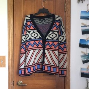 Forever 21 Sweaters - Patterned oversized sweater